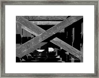 Barrier Wood Framed Print by Michael Wyatt
