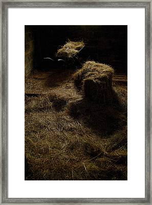 Barrow And Hay Framed Print by Miguel Capelo