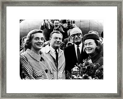 Barry Goldwater 2nd From Right, Mrs Framed Print by Everett