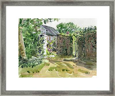 Barry House Framed Print by Donald Maier