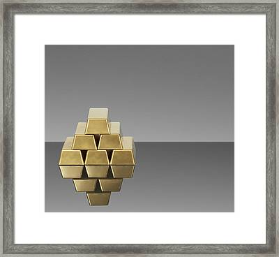 Bars Of Gold Reflected In Countertop Framed Print by GP Kidd