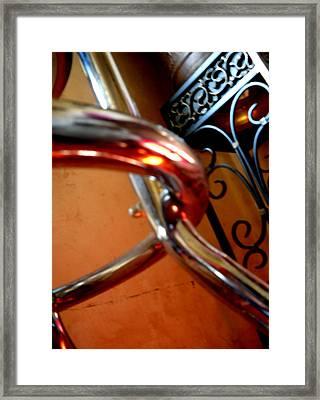 Barstool Beauty Framed Print by Mille Kedlaw