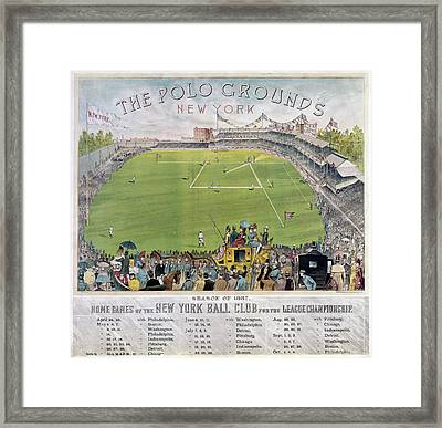 Baseball, 1887 Framed Print by Granger