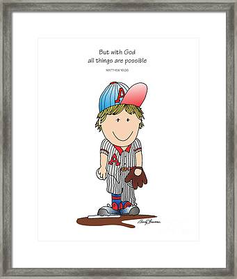 Baseball Framed Print by Barry Louwerse