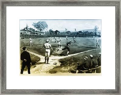Baseball Framed Print by Bill Cannon
