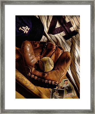 Baseball Framed Print by Bob Nardi