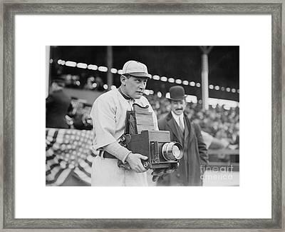 Baseball: Camera, C1911 Framed Print by Granger