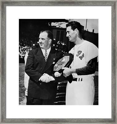 Baseball Commissioner Albert B Framed Print by Everett
