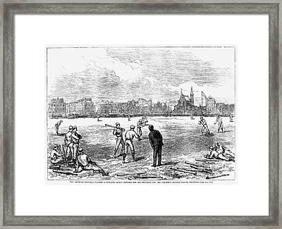 Baseball: England, 1874 Framed Print by Granger