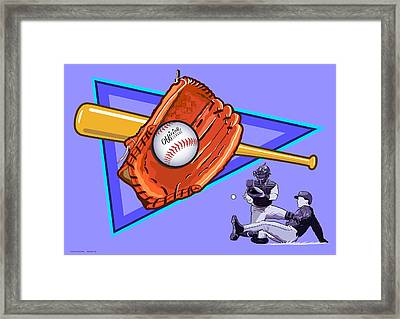 Baseball Framed Print by Erasmo Hernandez