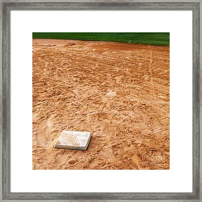 Baseball Field Base Framed Print by Skip Nall