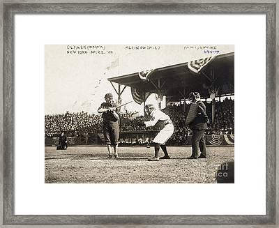 Baseball Game, 1909 Framed Print by Granger
