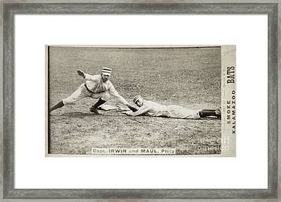 Baseball Game, C1887 Framed Print