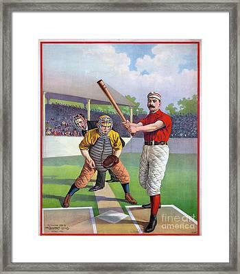 Baseball Game, C1895 Framed Print by Granger