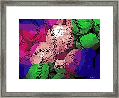 Baseball Framed Print by George Pedro
