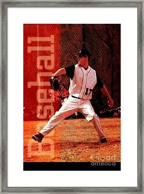 Baseball Framed Print by John Turek