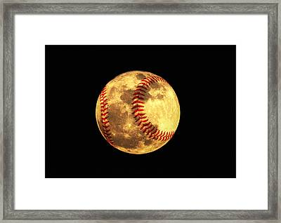 Baseball Moon Framed Print by Bill Cannon