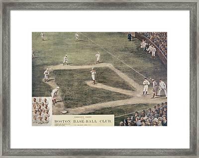 Baseball, New York At Boston, 1889 Framed Print by Everett