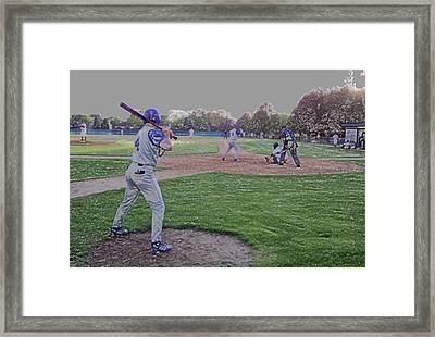 Baseball On Deck Digital Art Framed Print by Thomas Woolworth