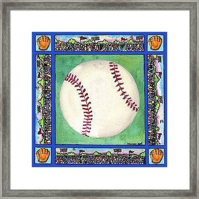 Baseball Framed Print by Pamela  Corwin