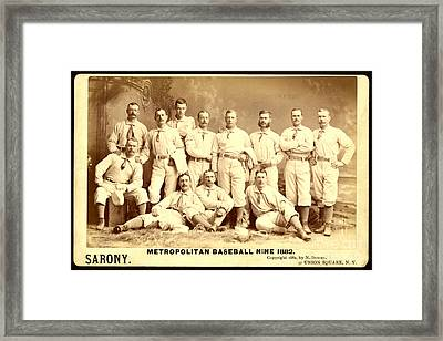 Baseball Panoramic Metropolitan Nine Circa 1882 Framed Print by Pg Reproductions