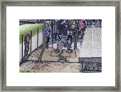 Baseball Pitcher Warming Up Digital Art Framed Print by Thomas Woolworth