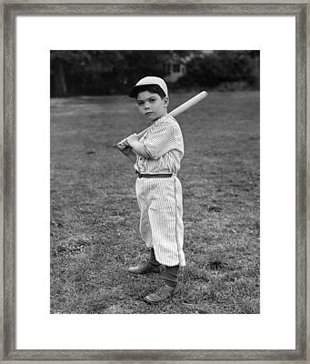 Baseball Player Framed Print by L M Kendall