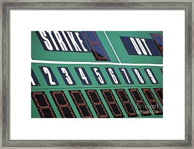 Baseball Scoreboard Framed Print by Bryan Mullennix