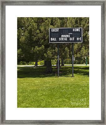 Baseball Scoreboard Framed Print by Thom Gourley/Flatbread Images, LLC