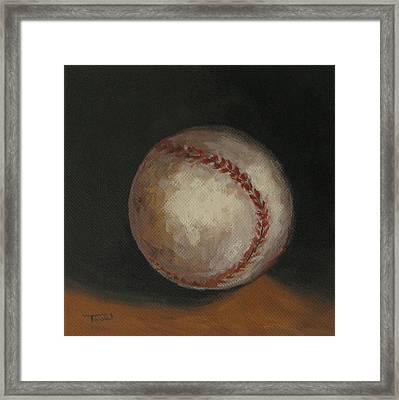 Baseball Framed Print by Torrie Smiley