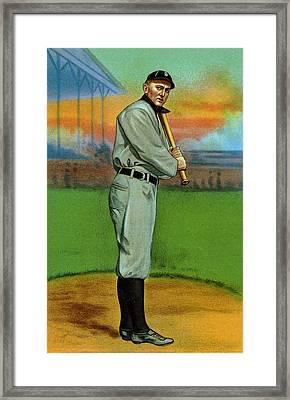 Baseball. Ty Cobb Baseball Card Framed Print by Everett