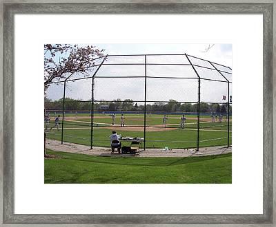 Baseball Warm Ups Framed Print by Thomas Woolworth