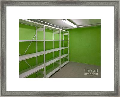 Basement Storage Room Framed Print