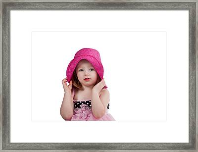 Bashful Girl Framed Print by Jim Boardman