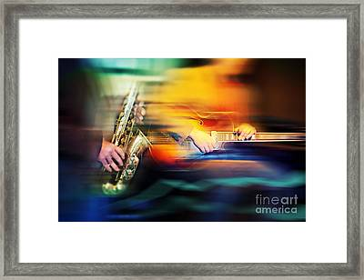 Framed Print featuring the photograph Basic Jazz Instruments by Ariadna De Raadt