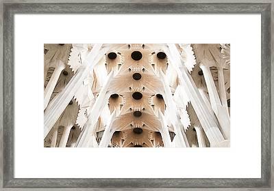 Basilica De La Sagrada Familia In Barcelona Framed Print by Beth Riser