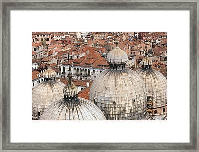Basilica Di San Marco Framed Print by Carlos Diaz