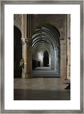 Basilica In Reims Framed Print by Dickon Thompson