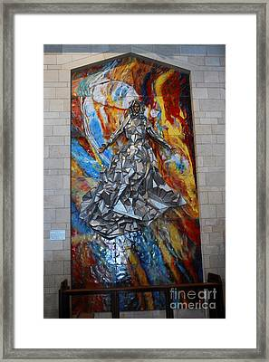 Basilica Of The Annunciation Nazareth Framed Print by Eva Kaufman