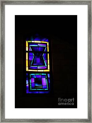 Basilica Of The Annunciation Nazareth Stained Glass Window Framed Print by Eva Kaufman