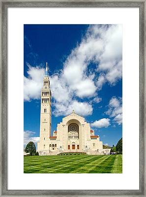 Basilica Of The National Shrine Of The Immaculate Conception Framed Print by Dan Wells