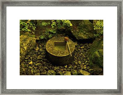 Basin To Purify And Humble Framed Print by Craig Wood