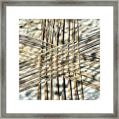 Basket Case.. Thailand #basketmaking Framed Print