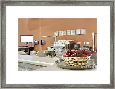 Basket Of Napkins Framed Print by Magomed Magomedagaev