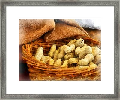 Basket Of Peanuts Framed Print by Susan Savad
