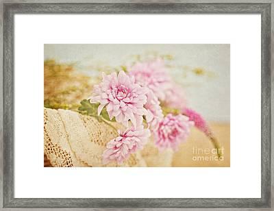 Basket Of Vintage Floral Goodness Framed Print