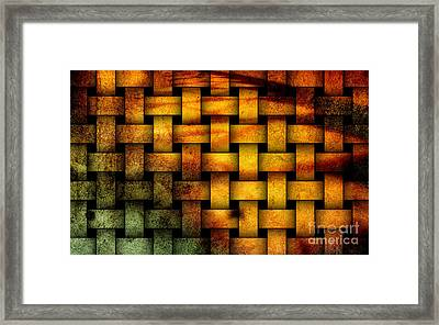 Basket Weave Abstract. Framed Print