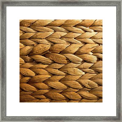 Basket Weave Framed Print by Peter Chadwick LRPS