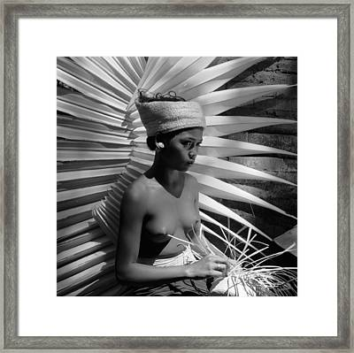 Basket Weaver Framed Print by Ebri
