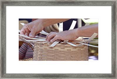 Framed Print featuring the photograph Basket Weaver by Wanda Brandon